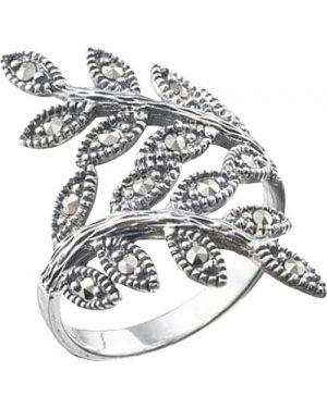 Кольцо из серебра с марказитом марказит