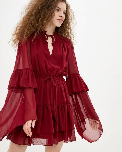 Прямое красное платье Missguided