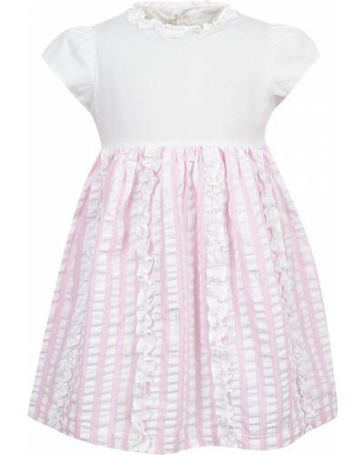 Белое хлопковое платье Il Gufo