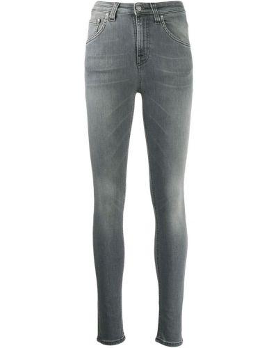 Джинсы-скинни с поясом на пуговицах с пайетками Nudie Jeans Co