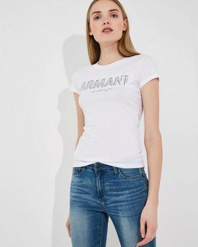 Белая футболка Armani Exchange
