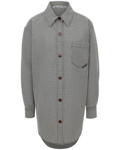 Шерстяная белая рубашка Alexander Wang