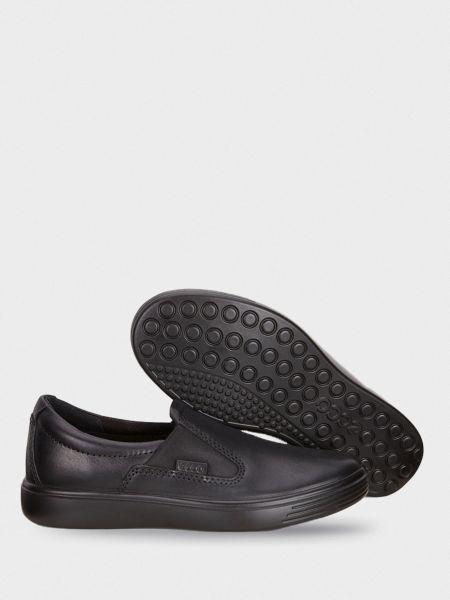 Кожаные слипоны - черные Ecco