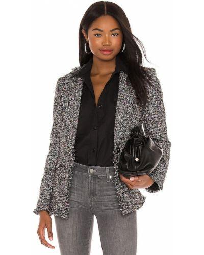 Черный пиджак твидовый с карманами Central Park West