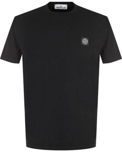 Черная футболка хлопковая Stone Island