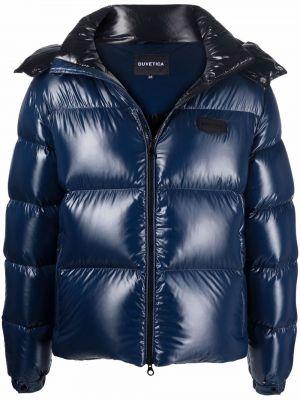 Синяя куртка с капюшоном Duvetica