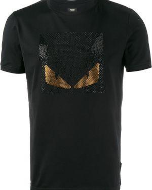 Koszula krótkie z krótkim rękawem klasyczna prosto Fendi
