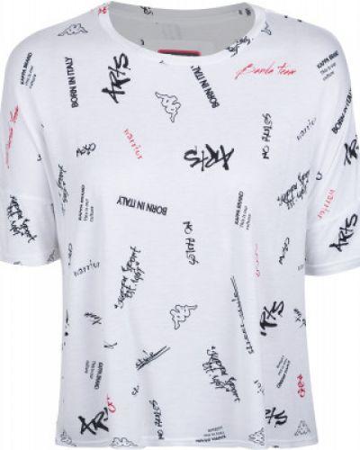 Спортивная футболка белый из вискозы Kappa
