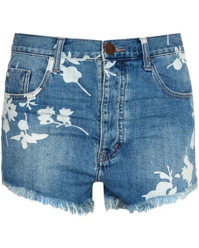 Джинсовые шорты короткие синий One Teaspoon