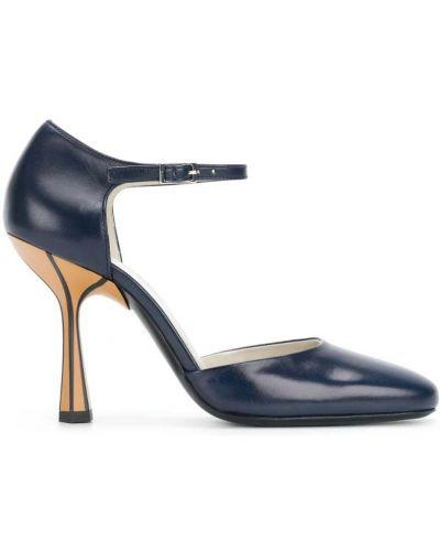 Туфли на высоком каблуке кожаные на каблуке Marni