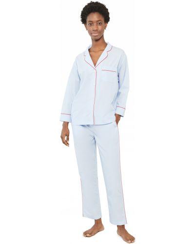 Хлопковая пижама с длинными рукавами с карманами Sleepy Jones