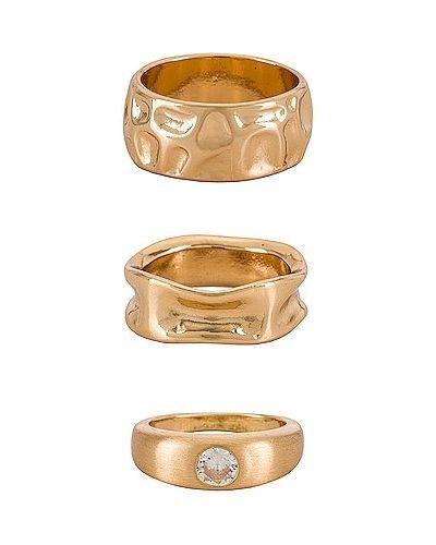 Złoty pierścionek pozłacany na co dzień Ettika