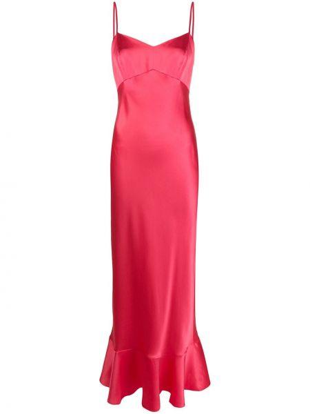 Sukienka z jedwabiu różowa Saloni