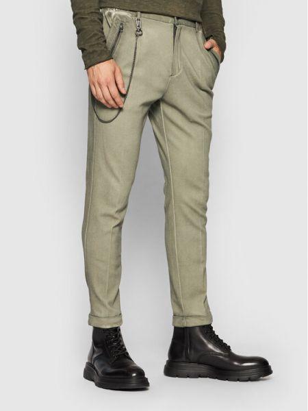Zielone spodnie materiałowe Tigha