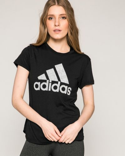 Черная футболка прямая Adidas Performance