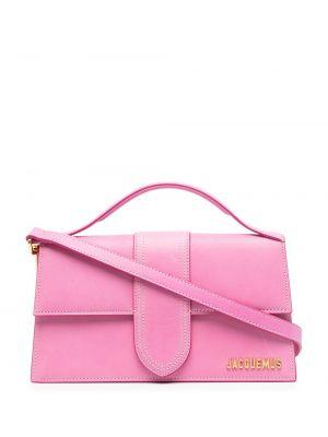 Золотистая розовая кожаная сумка на плечо Jacquemus
