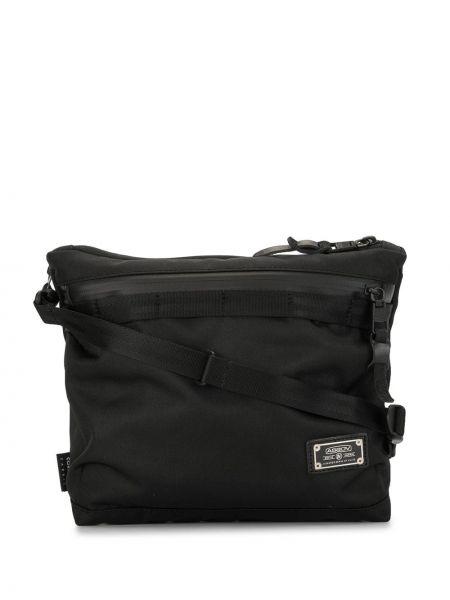 Черная нейлоновая сумка на плечо на молнии с карманами As2ov