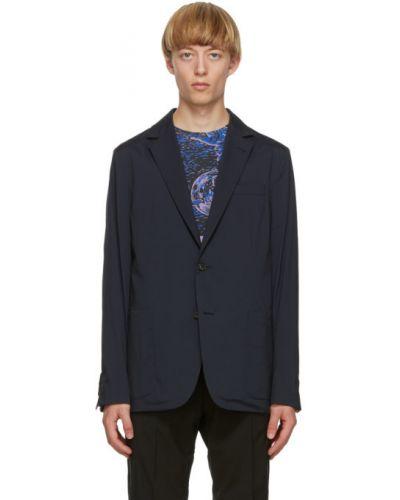 Малиновый удлиненный пиджак с накладными карманами с воротником Paul Smith