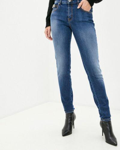 Синие джинсы-скинни узкого кроя Just Cavalli