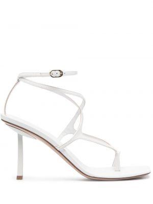 Кожаные сандалии - белые Le Silla