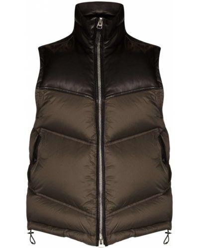 Черная пуховая жилетка с карманами Tom Ford