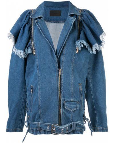Синяя джинсовая куртка на молнии Pony Stone