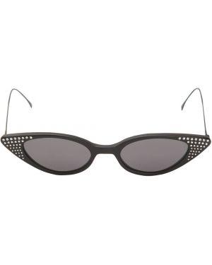 Złote czarne okulary Illesteva