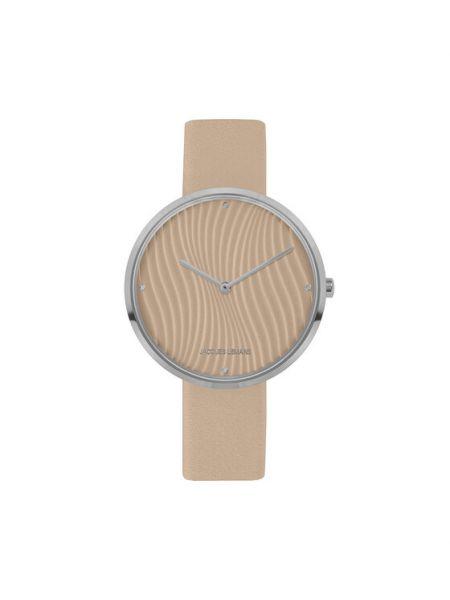 Beżowy zegarek Jacques Lemans