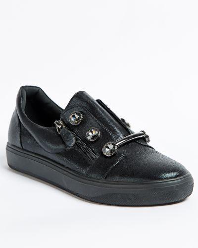 Брендовые черные туфли Vensi