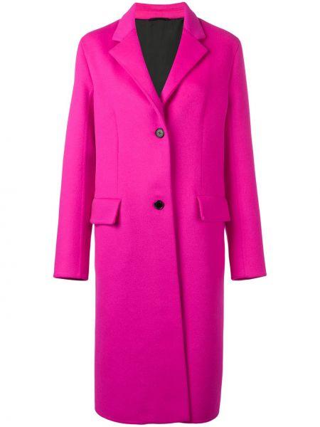 Однобортное шерстяное розовое пальто классическое на пуговицах Calvin Klein 205w39nyc
