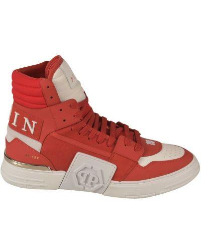 Czerwone sneakersy Philipp Plein
