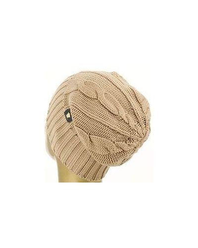 Бежевая шапка Versace