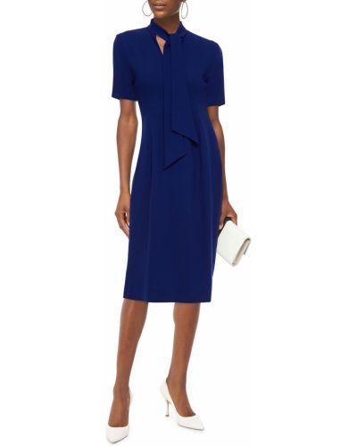 Шерстяное синее платье с подкладкой Goat