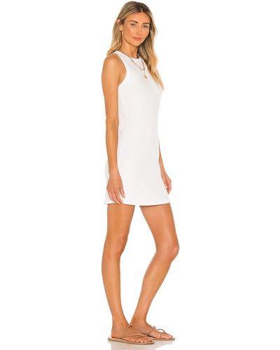 Sukienka prążkowana - biała Michael Lauren