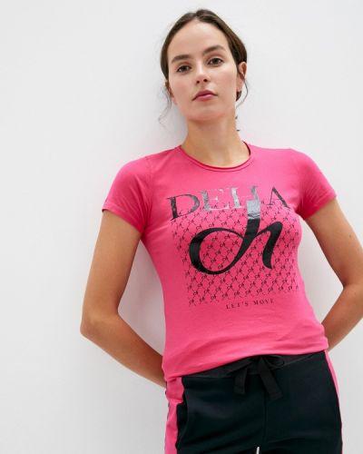 Розовая футболка с короткими рукавами Deha