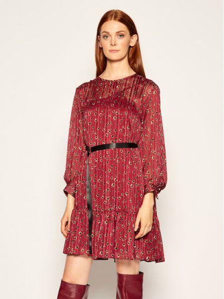 Sukienka oversize bordowa Iblues