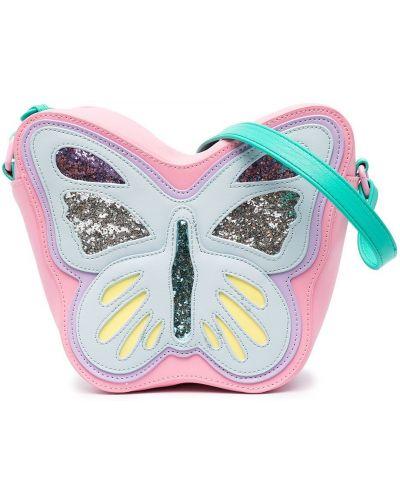 Розовая брендовая косметичка с глиттером Stella Mccartney Kids