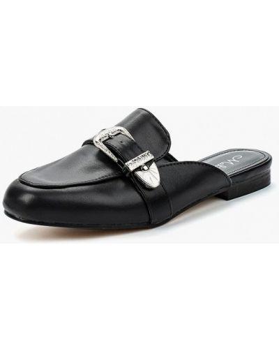 Черное кожаные сабо Malien