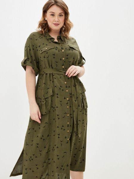 Зеленое платье Intikoma