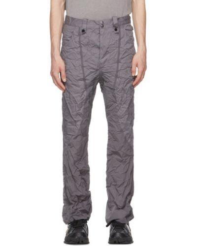 Fioletowe spodnie z paskiem bawełniane Blackmerle