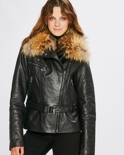 Прямая черная куртка с подкладкой Ochnik