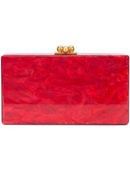 Акриловая красная сумка Edie Parker