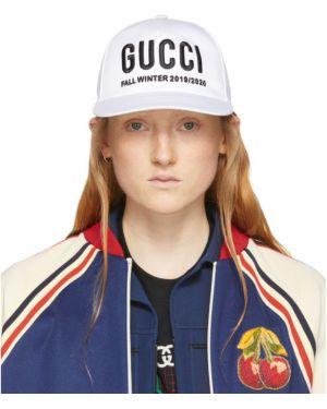Czapka z logo biały Gucci