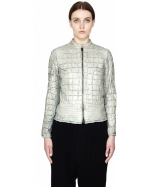 Кожаная куртка из кожи крокодила Isaac Sellam