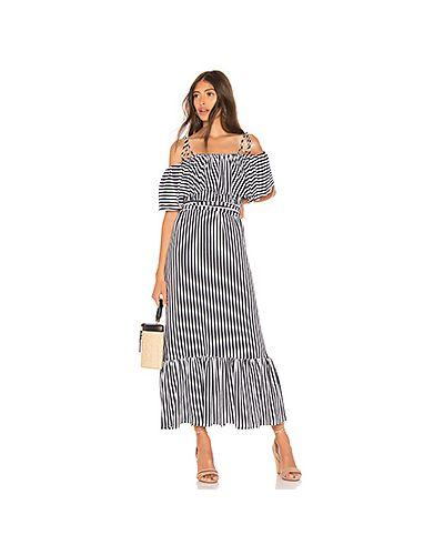 Платье с поясом в полоску с вырезом Mds Stripes