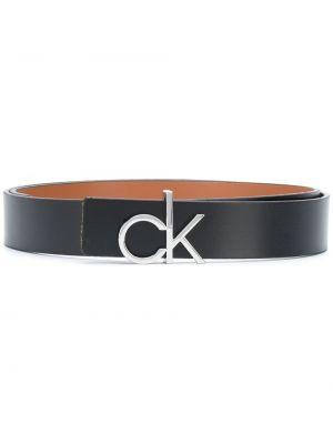 Кожаный черный ремень с пряжкой Calvin Klein