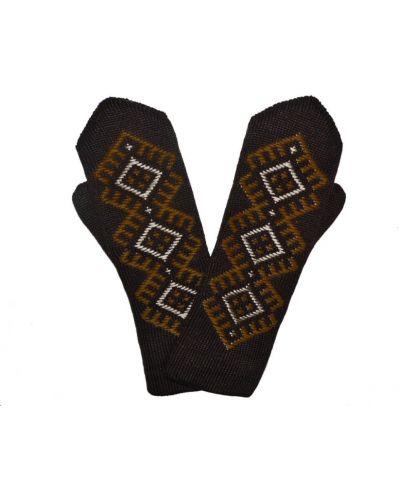 Варежки с вышивкой коричневый Lacywear
