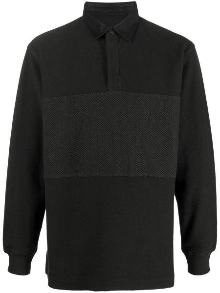 Хлопковая с рукавами черная рубашка Maharishi