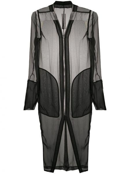 Długi płaszcz skórzany - czarny Rick Owens