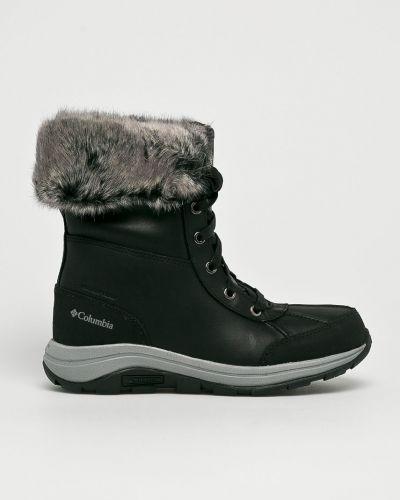 Ботинки на шнуровке кожаные теплые Columbia